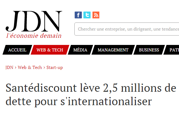 Santédiscount lève 2,5 millions de dette pour s'internationaliser
