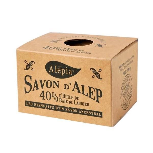 savon d'alep 40 laurier – 190g – alepia