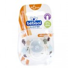 BEBISOL SUCETTE REVERSIBLE SILICONE ROBOT +6 MOIS (REF 2)