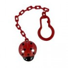 DBB REMOND ATTACHE SUCETTE COCCINELLE ROUGE