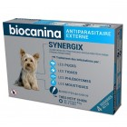 BIOCANINA ANTIPARASITAIRE EXTERNE SYNERGIX TRES PETIT CHIEN 1,5 A 4KG 4 PIPETTES