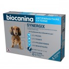BIOCANINA ANTIPARASITAIRE EXTERNE SYNERGIX PETIT CHIEN 4 A 10KG 4 PIPETTES