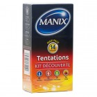 MANIX TENTATIONS KIT DECOUVERTE 14 PRESERVATIFS