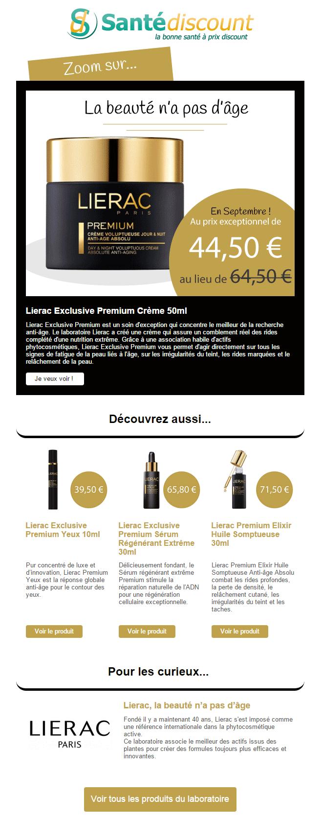 Zoom sur la crème Lierac Exclusive Premium