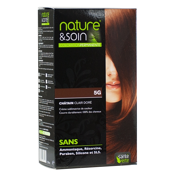 Coloration chatain clair doré Nature & Soin