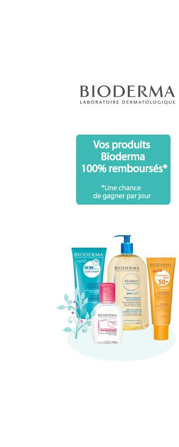 Jusqu'au 15 Avril ! Vos produits Bioderma 100% remboursés* Sur une sélection de produits