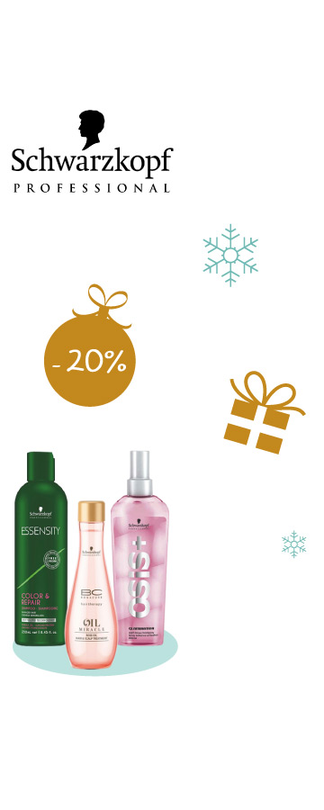 En décembre profitez de -20% sur tous les produits Schwarzkopf