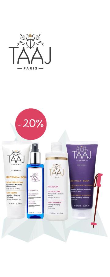 En Février profitez de -20% sur tous les produits taaj
