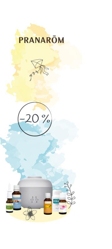 En Juillet ! -20% sur le laboratoire Pranarom