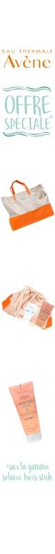 En Juillet !  Avène 1 Sac de Plage OU 1 Trousse solaire OFFERT au choix