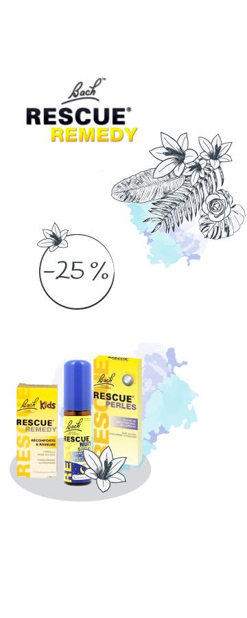 Jusqu'au 15 Juin !  -25% sur la gamme Rescue du laboratoire Fleurs de Bach
