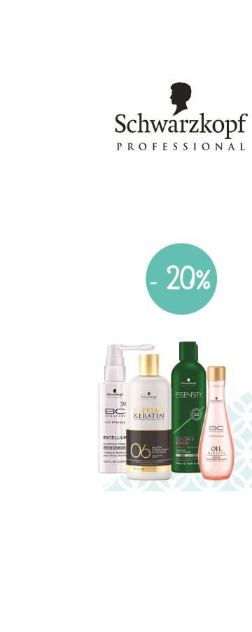 En Mai ! -20% sur le laboratoire Schwarzkopf Sur une sélection de produits