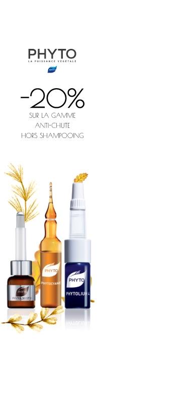 En Octobre !  Promotions sur le laboratoire Phyto Anti-chute Cheveux