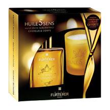 Furterer Coffret Huile 5 Sens 100ml + Bougie Parfumée Offerte