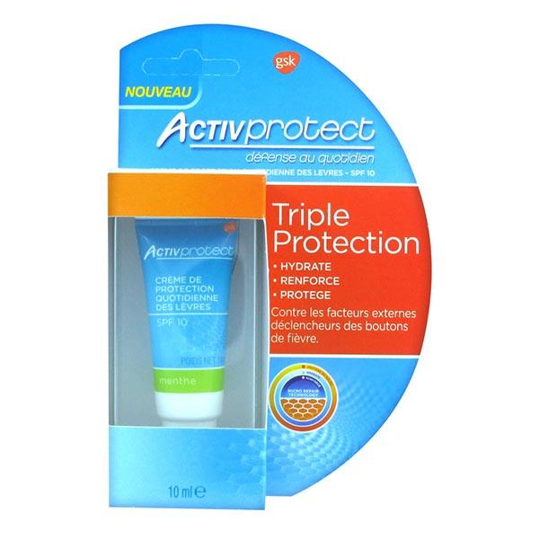 Activprotect Crème Triple Protection Lèvres Menthe 10ml