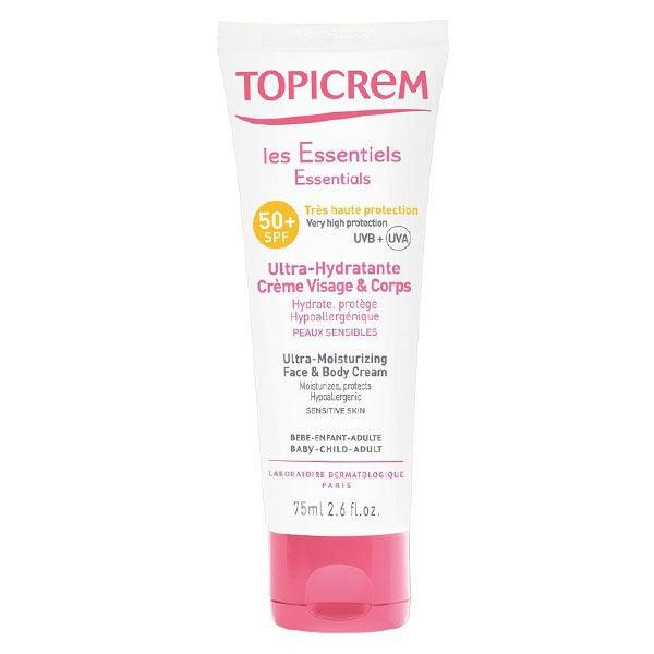 Topicrem Les Essentiels Ultra-Hydratante Crème Visage et Corps SPF50+ 75ml