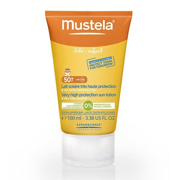 Mustela Lait Solaire Très Haute Protection SPF50+ UVA et UVB 100ml