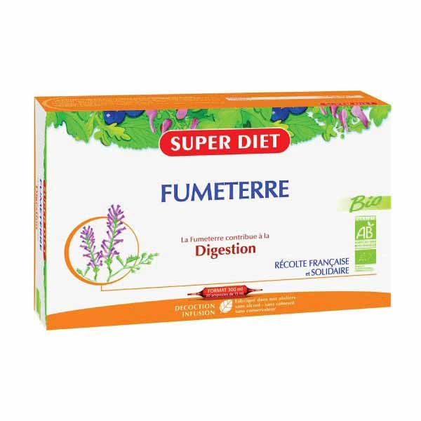 Super Diet Fumeterre Bio - 20 Ampoules De 15Ml