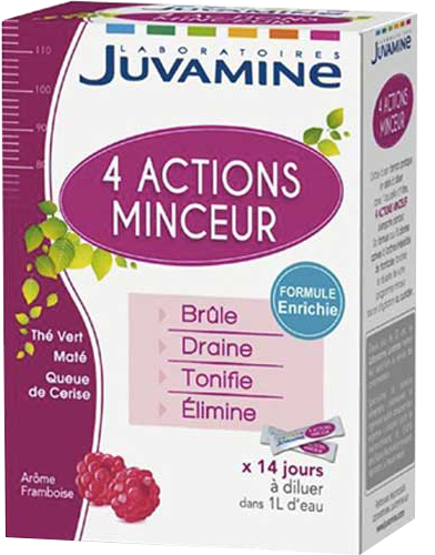 Juvamine CelliSlim Cocktail Minceur 4 Actions 14 sticks