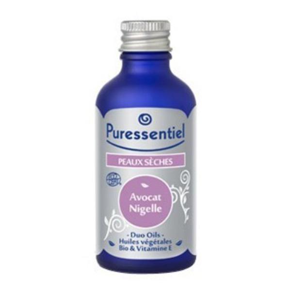 Puressentiel Duo Oils Peaux Sèches Avocat Nigelle 50ml