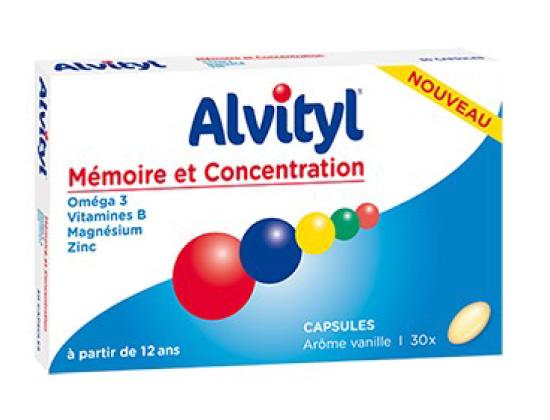Alvityl Mémoire & Concentration 30 capsules