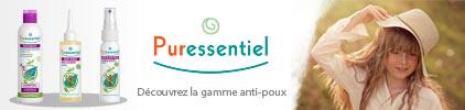 Voir la gamme anti-poux du laboratoire Puressentiel