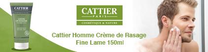 Voir le produit Cattier crème de rasage fine lame 150ml