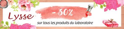 Promo -30% sur tout le laboratoire Lysse - Prix bas