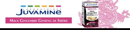 Voir le produit Juvamine Maca Gingembre Ginseng de Sibérie