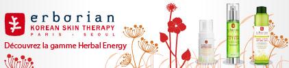 Voir la gamme herbal energy du laboratoire erborian