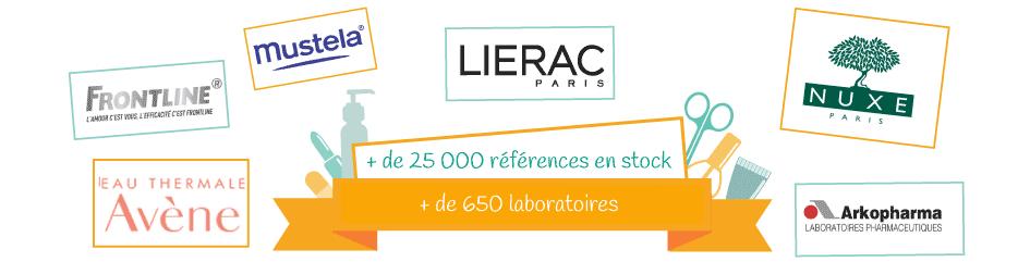 +25000 références +650 laboratoires